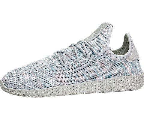 regarder 1521f 9b778 adidas Men's Pharrell Williams Tennis HU Blue/Pink/Light Grey BY2671 (Size:  11)