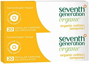 Seventh Generation Tampons, Regular, No Applicator - 20 ct - 2 pk