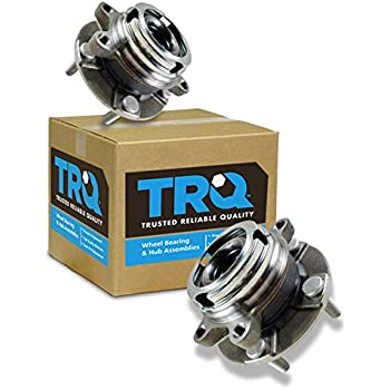 TRQ Front Wheel Hubs & Bearings Pair Set of 2 for Nissan Maxima Altima V6 w/ABS