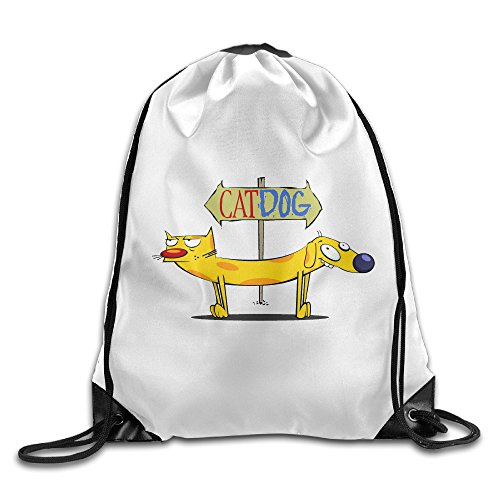 Athletic CatDog Cartoon Drawstring Shoulders Hiking]()