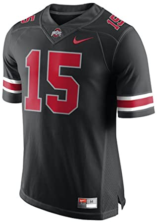 15 Ohio State Buckeyes Nike Black Pack Limited Plus Football Jersey - Black  (Large) 12c353a4f