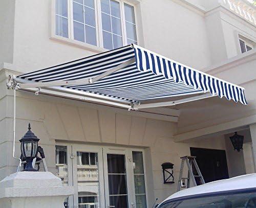 WALLER PAA Toldo retráctil para patio con toldo para exteriores ...