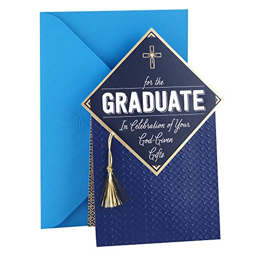 Hallmark Mahogany Religious Graduation Card (Gold Tassel Your God-Given Gifts)]()