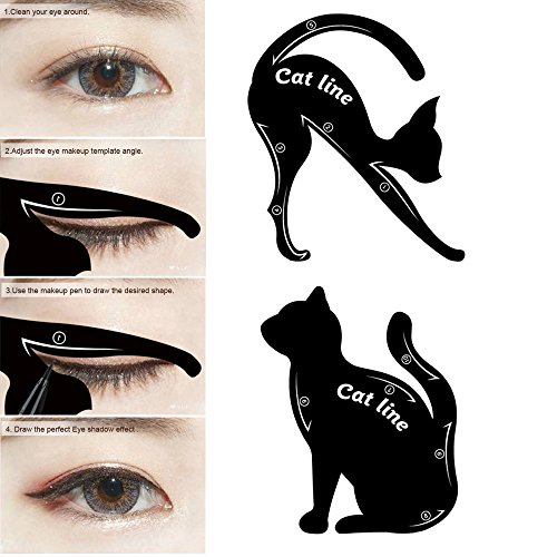 LetGoShop Packs Cat Eyeliner Stencil Smoky Eyeshadow Applicators - Eyeshadow template