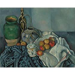 Oil Painting 'Still Life With Apples, 1894 By Paul Cezanne', 10 x 12 inch / 25 x 32 cm , on High Definition HD canvas prints is for Gifts And Bar, Game Room And Gym Decoration, toart
