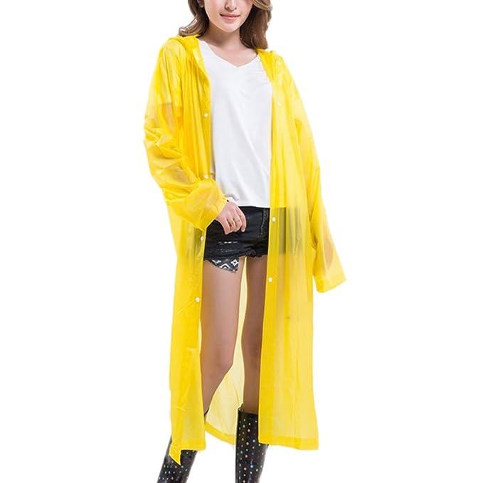 Zhhlinyuan Adult Portable Multicolor Translucent Hooded Raincoat - One Size:  Amazon.de: Bekleidung
