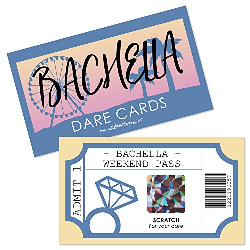 Big Dot of Happiness Bachella - Palm Springs Boho Bachelorette Party Game Scratch Off Dare Cards - 22 (Palm Springs Game)