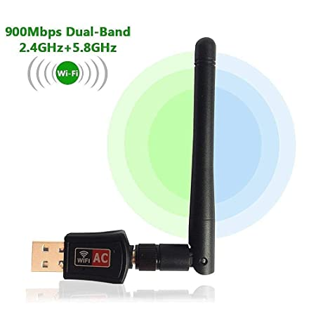 Portable 900Mbps USB WiFi Dongle 600Mbps Wireless Adapter 802.11N/G/B with Antenna Accessories   Peripherals