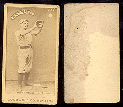 1887 Old Judge N172 Regular Baseball Card 153 Sid Farrar Of The