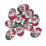 10 x Milk Chocolate Foiled Christmas Santas Balls 4g Each