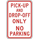 ComplianceSigns Aluminum Parking Control sign, Reflective 18 x 12 in. with Parking Reserved info in English, White