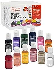 Food Coloring Liqua-Gel - 12 ColorBold Variety Kit 2 in .75 fl. oz. (20ml) Bottles