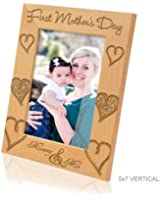 Kate Posh - First Mother's Day with Mommy & Me Picture Frame (5x7 - Vertical)