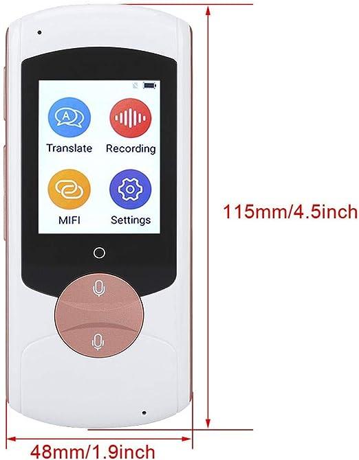 palmare Translator 1 Smart Voice Traduzione Interpretazione simultanea vocale dispositivo di registrazione vocale digitale supporta Traduttore vocale 41 lingue per lapprendimento in viaggio