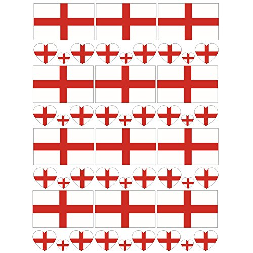 SpringPear 12x Temporary Tattoos of England Flag for World Cup International Competitions Waterproof Flags Tattoo Sticker Fan Set (12 Pcs) (Union Jack Tattoos)