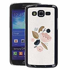 A-type Arte & diseño plástico duro Fundas Cover Cubre Hard Case Cover para Samsung Galaxy Grand 2 (Leaves Tree Spring Apple Blossom Peach)