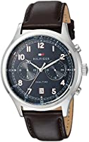 Tommy Hilfiger men's dual time leather watch - 1791385