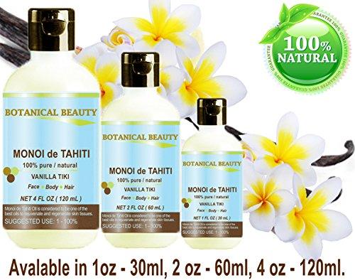 MONOI VANILLA TIKI / / Virgin Original fl.oz.- 30 ml. Face, Hair Body. Botanical
