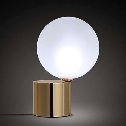 Lampada da tavolo in vetro palla, Lampade da tavolo moderne in ferro ...