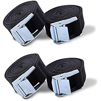 Tie Down Straps,4 Pack 6.5 Ft Adjustable Lashing Straps Ratchet Straps Heavy Duty Ratchet Tie Down Straps with Cam Buckle for Motorcycle, Cargo, Truck, Boat, Trailer, SUP Kayak, Luggage Moving