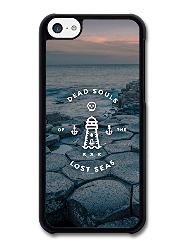 Dead Souls of the Lost Seas Quote on Cool Gloomy Landscape case for iPhone 5C