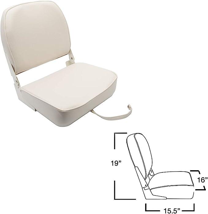 "Springfield Marine 1040624 Economy 19/""H x 16/""W x 15.5/""D Charcoal Folding Seat"