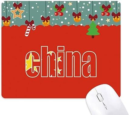 Alfombrilla de ratón con Nombre de la Bandera de China: Amazon.es ...