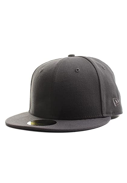 e85dfb84 Image Unavailable. Image not available for. Color: New Era Plain Tonal  59Fifty Fitted Hat (Graphite) Men's Blank Cap