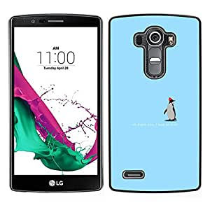 // PHONE CASE GIFT // Duro Estuche protector PC Cáscara Plástico Carcasa Funda Hard Protective Case for LG G4 / Cute Penguin - Thank You /