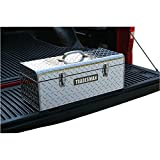 Lightweight Aluminum Handheld Toolbox- Beautiful Durable 24'' Diamond Plated Beauty- Extra Light Dual Clasp Security Removable Organizer Tray- Anti-Rust Finish Life-Time Warranty Protection Plus
