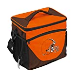 Logo Brands NFL Cleveland Browns 24 Can Cooler, One Size, Orange