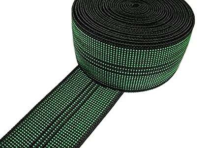 3u0026quot; Elastic Webbing Sofa/Couch/Chair Upholstery [Black/Green]