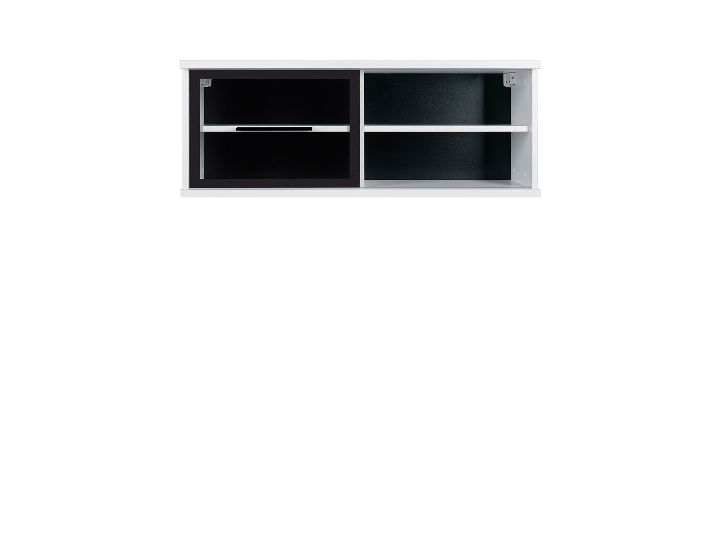 Black Red White Fever - Glass-Fronted Wall Cabinet (SFW1W/4/10) - Sonoma Oak