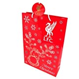 Liverpool F.C. Christmas Gift Bag Medium Rs- Paper Gift Bag- Attached Gift Tag- Approx 46Cm X 33Cm X 10Cm- With A Swing Tag- Official Football Merchandise