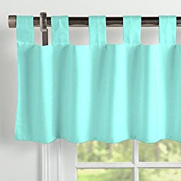 Carousel Designs Solid Teal Window Valance Tab-Top