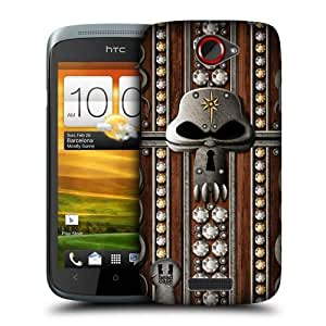 Head Case Designs Gem and Skull Treasure Chest Protective Snap-on Hard Back Case Cover for HTC One S by icecream design