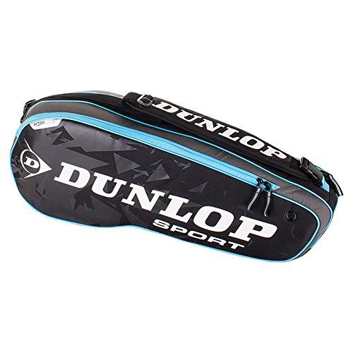 Dunlop T817222 Performance 3 Racquet Tennis Bag Black and Blue Dunlop Tennis Bags