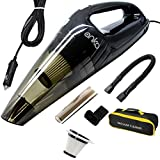 ANKO [Upgraded] Car Vacuum Cleaner, High Power 120W Wet&Dry Handheld Auto Vacuum Cleaner with 15FT Power Cord, 2 Filters, 3 Different attachments and One Carrying Bag. (Black-1 Pack)