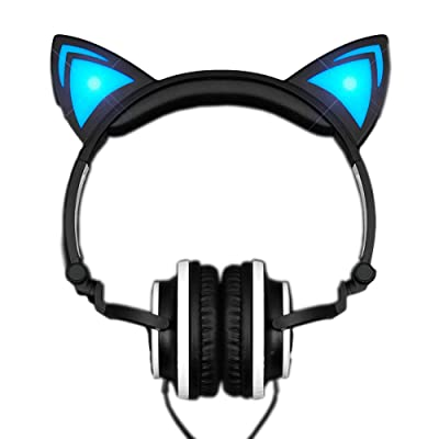 blinkee Blue LED Kitty Cat Animal Ears Headphones by: Toys & Games