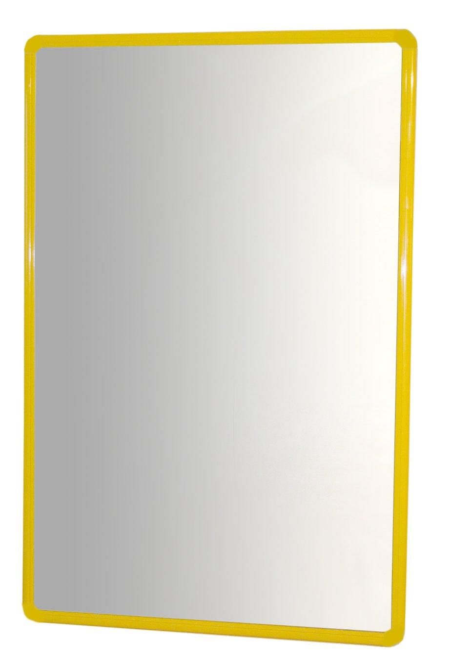 Henbea - Espejo con Marco de Aluminio, 100 x 65 cm, Color Amarillo (754/C4)