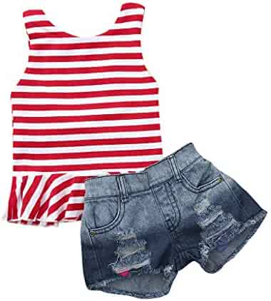 947b96c0f LIKESIDE Outfits Sets Infant Simple Casual T-Shirt Vest Shorts Spring  Holiday