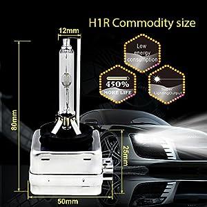 2pcs New D1S D1R D1C HID Xenon Headlight Light Bulbs OEM Direct Replacement 35W 6000K