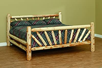 White Cedar Classic Sunburst Style Twin Bed *6 stain options*