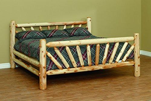 (Furniture Barn USA White Cedar Sunburst Full BedS-2 Higher Headboard!)