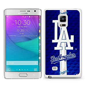 Los Angeles Dodgers White Abstract Custom Design Samsung Galaxy Note Edge Protective Phone Case