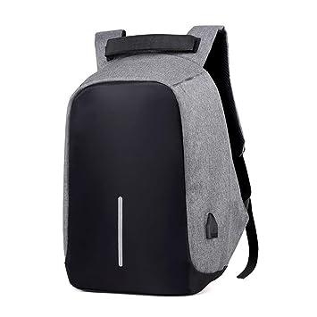 YYZAN Mochila Antirrobo para Portátil, Mochila de Ordenador Multiusos Mochilas Escolares con Puerto de Carga USB para Estudiantes/Negocios/Viajes, ...