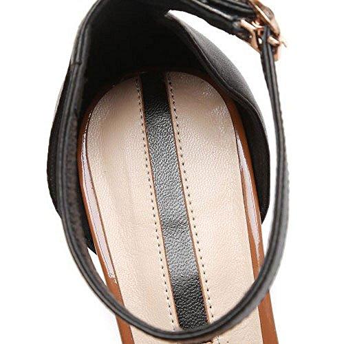 DKFJKI Sauvage Tous Chaussures de Vêtements Jours Chaussures pour Saison de Cuir Talon Les Femmes Talons à Mode Mi Brown en Asakuchi à Chaussures Hauts Asymétriques UrgqH1dwU