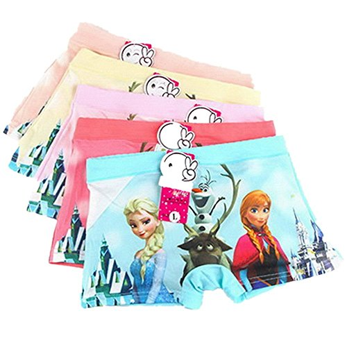 KSHQZ 5PCS/Lot Frozen Essar and Anna Kids Girls' Briefs Panties Underpants Underwear 3-11 Years Gifts (9-11Y, Frozen A) by KSHQZ