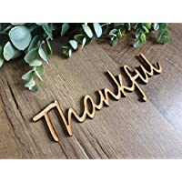 Thankful wood cutouts, fall plate decorations