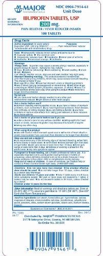 Major Ibuprofen 200mg Unit Dose Tablets (Unit Dose Solutions)